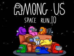 Игра Among Us Space Run.io